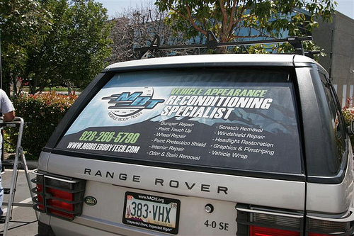 MBT Mobile Body Tech Rear Window Graphics