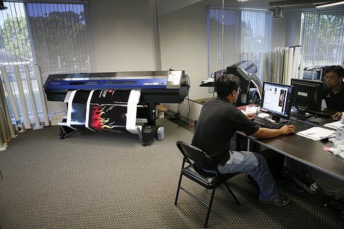 Gene Simmons RV Vehicle Wrap Printing Setup