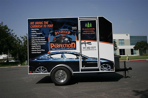 Detailed Perfection Mobile Auto Detailing Trailer Wrap