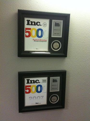 Rightlook Inc 5000 Awards