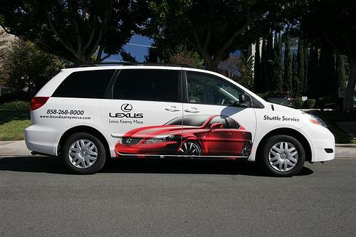 Lexus Shuttle Graphics