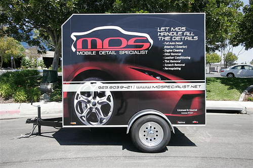 MDS Mobile Detail Specialist Auto Detailing Trailer By Rightlook.com