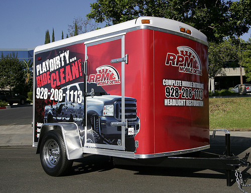 RPM Mobile Detail Trailer Wrap