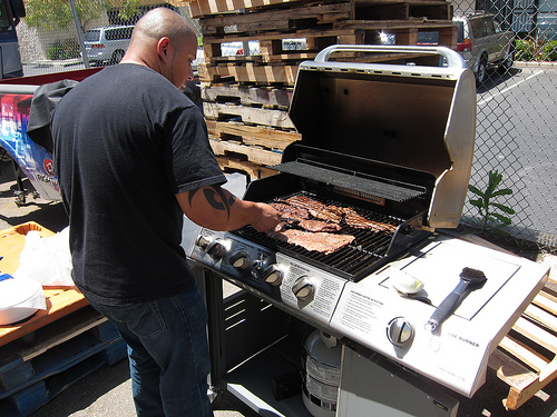 Grilling at lunch
