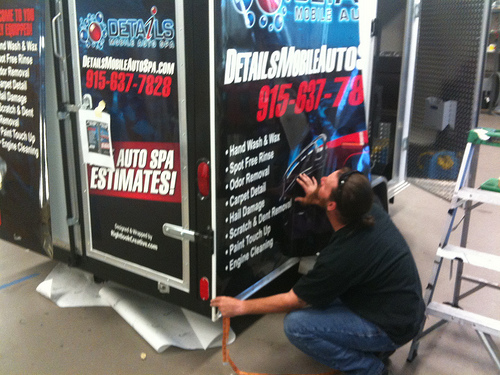 Installing Vehicle Graphics On the Trailer