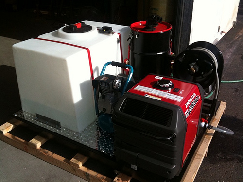 Deluxe Skid Mount With 15 Gallon Carpet Extractor Air