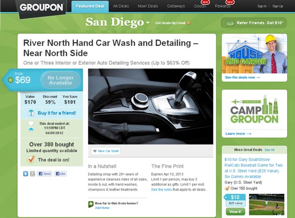 Groupon for Detailing
