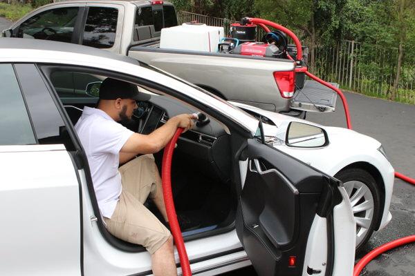 Mobile Auto Detailing Skid Mount Unit Car Detailing Skid