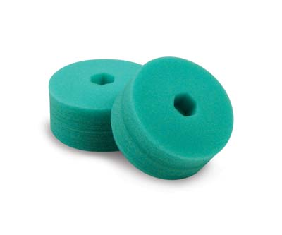Cyclo Polisher Double-Sided Green Foam Pads - Light Polishing (Set of 2 Pads)