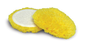 Cyclo Wool Cutting Pads - Yellow - Medium Cutting (Set of 2 Pads)