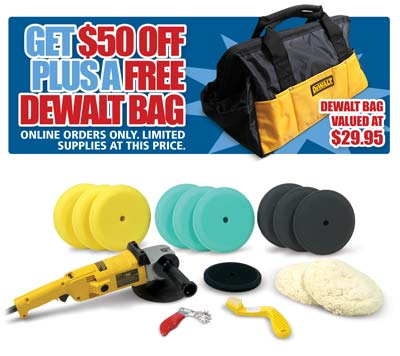 Deluxe Dewalt Polisher Kit