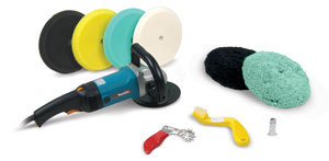 Makita Polisher Kit With Double Sided Buffing Pads