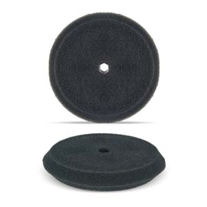 "Black 8"" Double-Sided Foam Buffing Pad - Heavy Cutting"