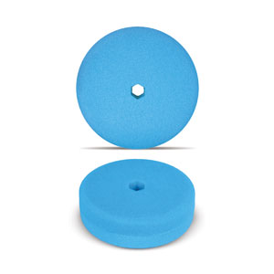 Blue 6 Inch Double Sided Foam Buffing Pad - Finishing
