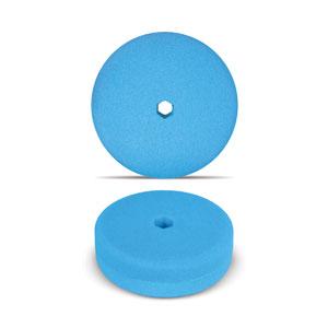 Blue 6 Inch Double Sided Foam Buffing Pad - Finishing