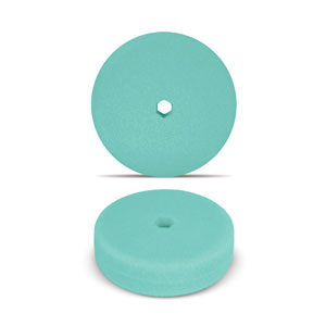 Green 6 Inch Double Sided Foam Buffing Pad - Light Cutting