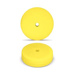 Yellow 6 Inch Double-Sided Foam Buffing Pad - Medium Cutting