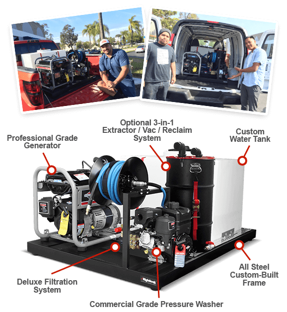 Mobile Auto Detailing Skid Mount Unit Car Detailing Skid