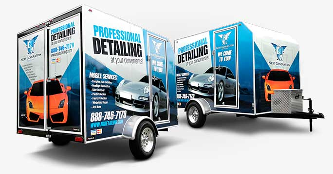 Rightlook Auto Detailing Trailer Graphics Hero