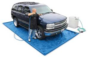 Car Wash Mats and Grey Water Containment