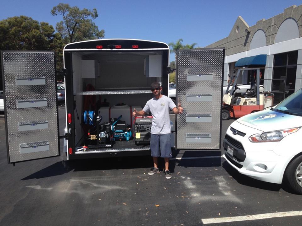 mobile pressure washer trailer